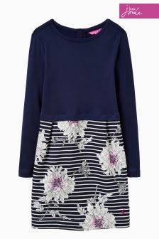 Joules Navy Floral Cocoon Dress
