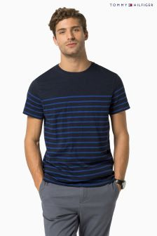 Tommy Hilfiger Navy Stan Stripe T-Shirt