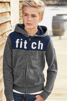 Abercrombie & Fitch Grey Zip Hoody