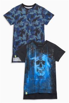Skull And Camo T-Shirts Two Pack (3-16yrs)