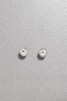Cushion Set Stud Earrings