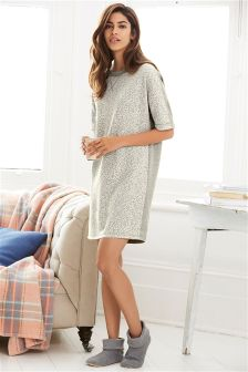Animal Jacquard Sweater Dress