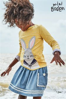 Boden Canteloupe Cosy Bunny T-Shirt