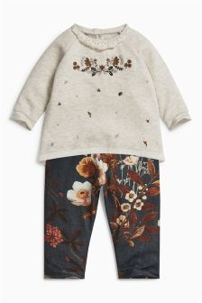 Floral Tunic And Leggings Set (0mths-2yrs)