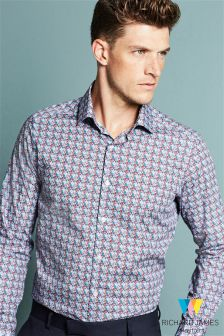 Richard James Mayfair Tile Print Shirt