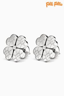 Folli Follie Silver Sweetheart Earrings