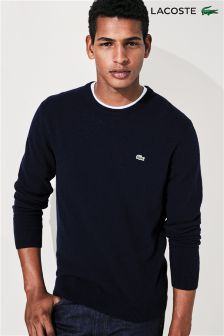 Lacoste® Navy Crew Neck Wool Jumper