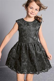 Charcoal Lace Dress (3-16yrs)
