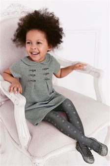 Bow Dress And Tights Set (3mths-6yrs)