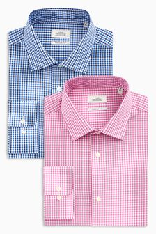 Check Regular Fit Shirts Two Pack
