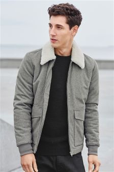Wool Blend Flight Jacket