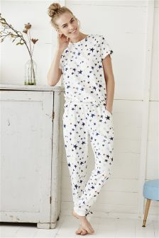 Short Sleeve Printed Pyjamas