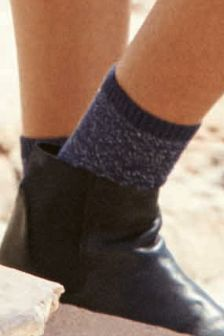 Mixed Texture Ankle Socks Four Pack