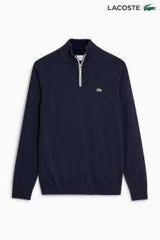 Lacoste® Navy 1/4 Zip Knit Jumper