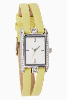 Rectangle Split Strap Watch