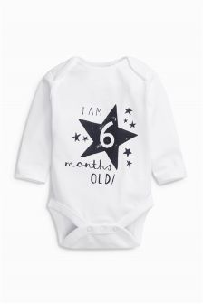 Long Sleeve Six Months Old Bodysuit (3-9mths)