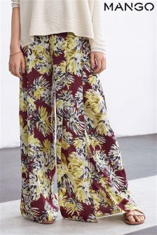 Mango Red Floral Print Trouser