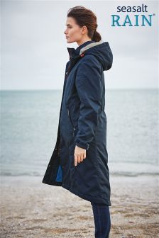 Seasalt Navy Janelle Waterproof Coat