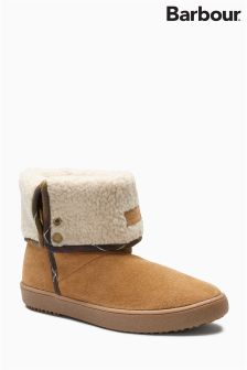 Barbour® Tan Shearling Fold Down Boot
