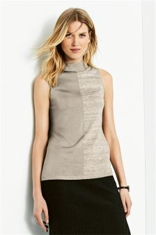 High Neck Sleeveless Sweater