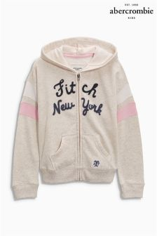 Abercrombie & Fitch Oatmeal Zip Hoody