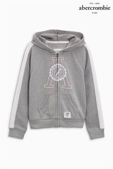 Abercrombie & Fitch Grey Badge Zip Hoody