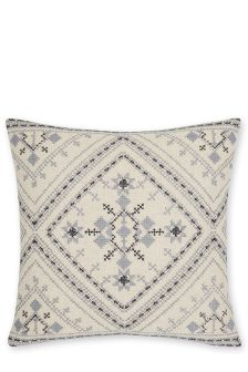Embroidered Cross Stitch Cushion