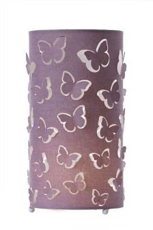 Mauve Butterfly Inner Lit Table Lamp