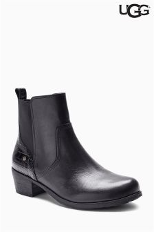 Ugg Black Keller Croc Leather Chelsea Boot