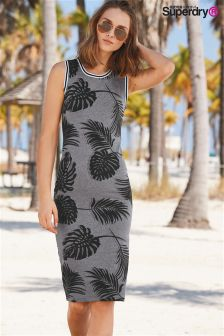 Superdry Shadow Leaf Tipped Midi Dress