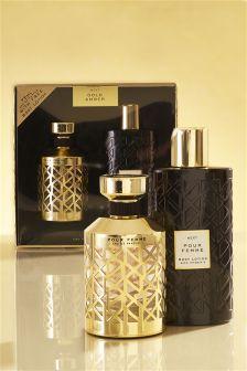 Gold Amber 75ml Eau De Parfum Gift Set
