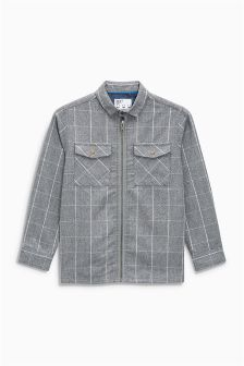 Long Sleeve Check Shacket (3-16yrs)