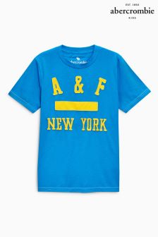 Abercrombie & Fitch Blue Logo T-Shirt