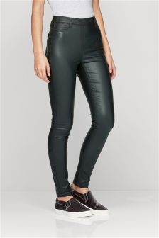 Pull On Coated Leggings
