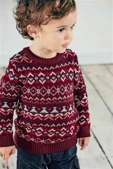 Fairisle Pattern Crew (3mths-6yrs)