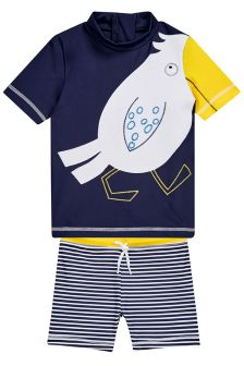 Seagull Swim Short And Vest Set (3mths-6yrs)