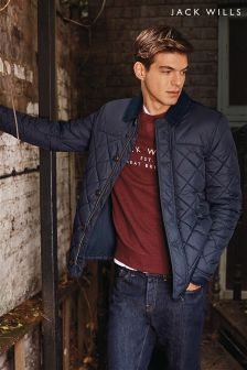 Jack Wills Jacobstowe Navy Quilted Jacket