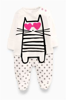 Cat Sleepsuit (0-18mths)