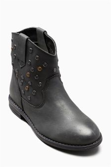 Stud Western Boots (Older Girls)