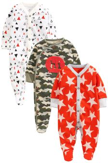 Camo Sleepsuits 3 Pack (0mths-2yrs)