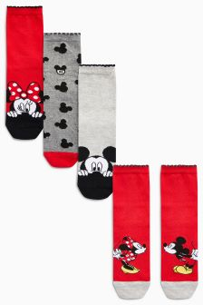 Minnie & Mickey Mouse™ Ankle Socks Four Pack