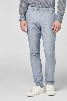 Chambray Cotton Suit: Trousers
