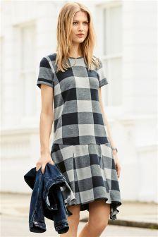 Check Asymmetric Dress