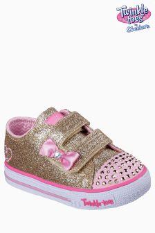 Skechers® Gold Twinkle Toes Shuffles Glitzy Games Shoe