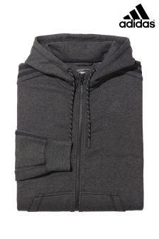 adidas 3 Stripe Essential Zip Through Hoody