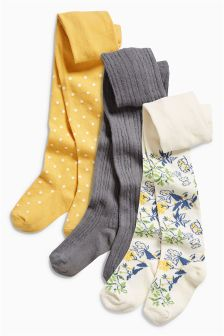 Buttercup Floral Tights Three Pack (0mths-6yrs)
