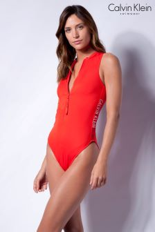 Calvin Klein Red Cheeky Swimsuit
