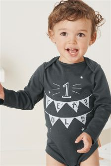Long Sleeve One Year Old Bodysuit (9-18mths)