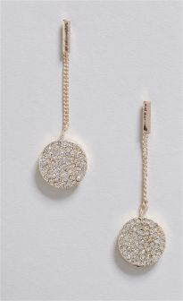 Disc Drop Earrings