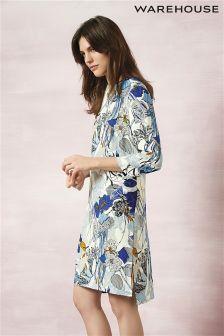 Warehouse Stem Floral Shift Dress